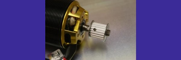 Driverpulley for screw-fitting on 8mm Shaft
